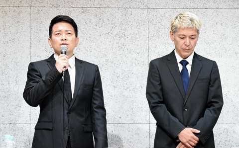 Miyasako and Tamura at press conference, July 20, 2019